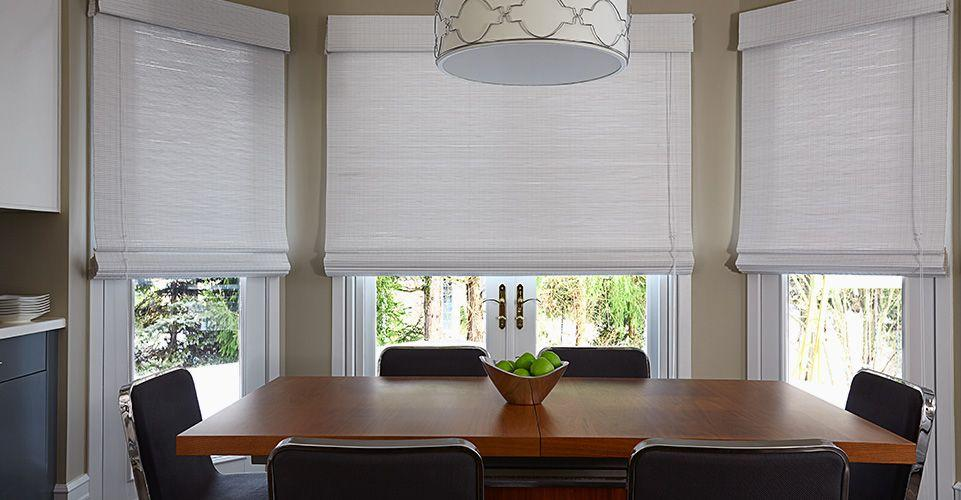 Bring the natural woven look with our large selection of woven wood shades.