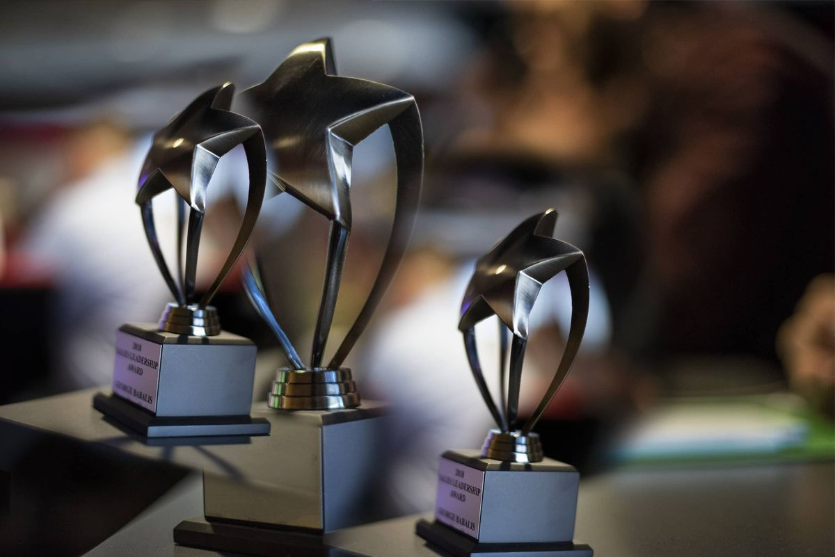 Blinds To Go trophies for outstanding corporate culture
