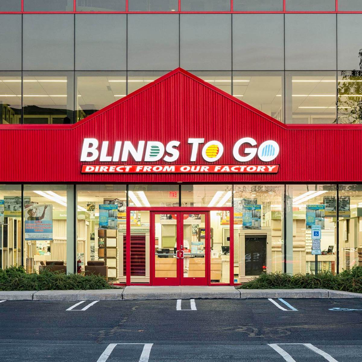 Find the nearest blinds to go store near you