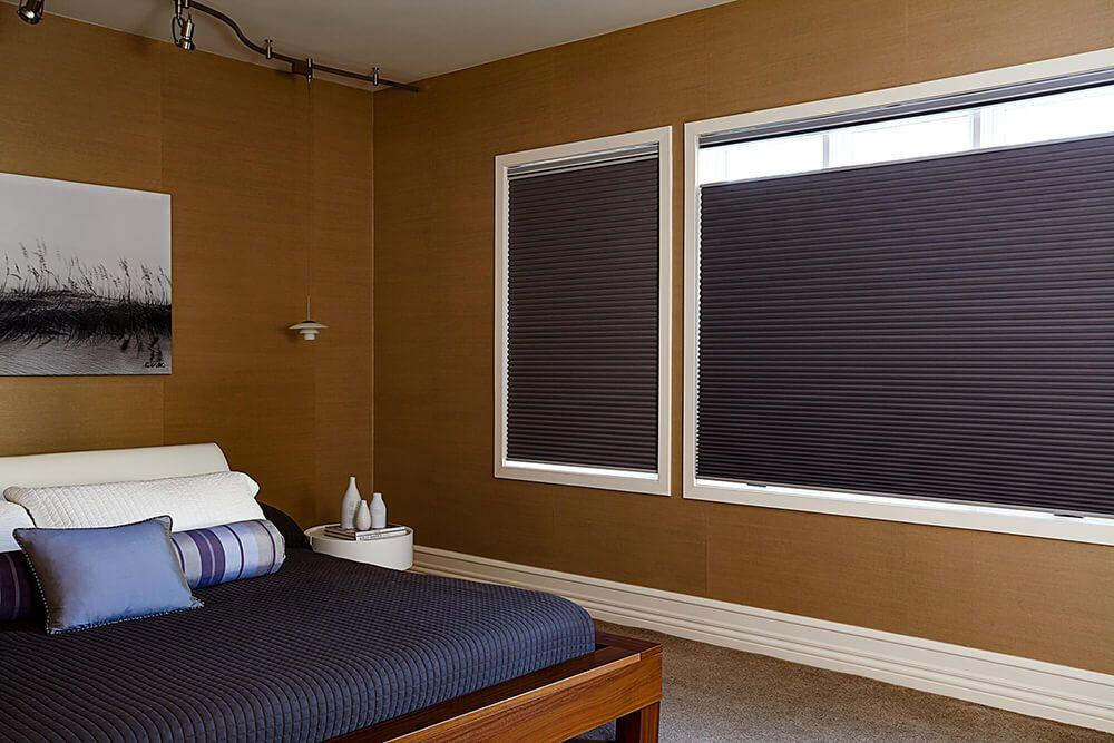 Blackout cellular shade the in bedroom