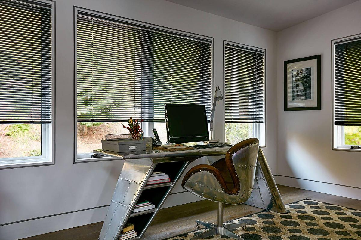 with blinds window desk small rendering houseplant image office of illustration d photo computer home includes and stock