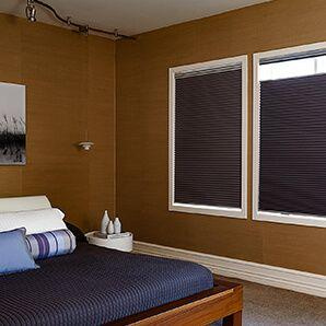 Our custom cellular shades comes in light filtering and blackout