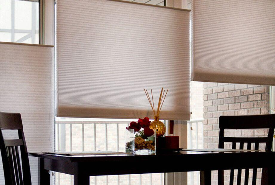 prestige double cell cellular shades offer more insulation and includes options such as cordless which is