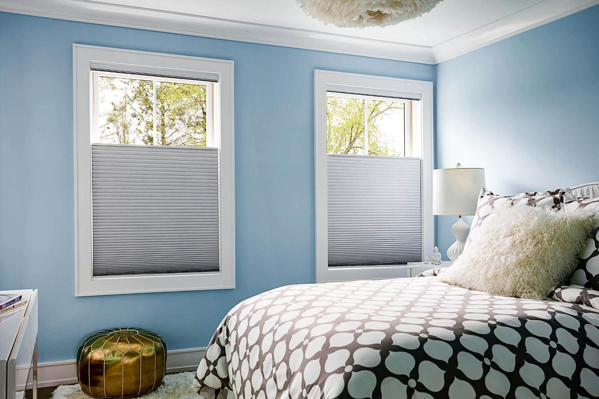 Attirant Bedroom Featuring Blackout Cellular Shades, A Perfect Companion.