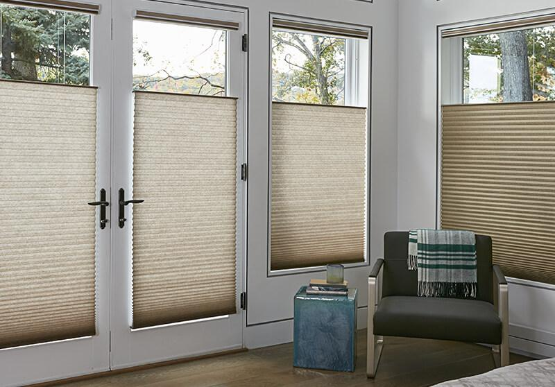 Cellular shades motorized option bedroom