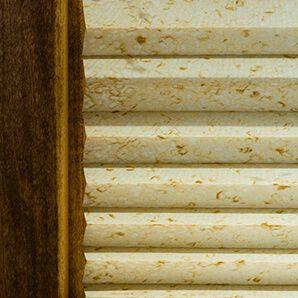 "Pleated shades come in 1"" and 2"" pleats."