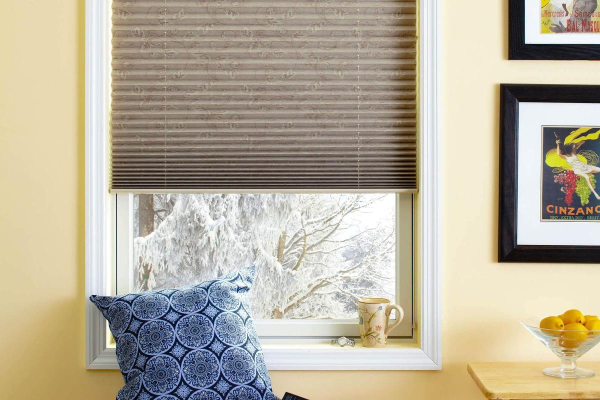 The Blackout Liner On These Foliage Pleated Shades Help Keep Light Out Of This Den