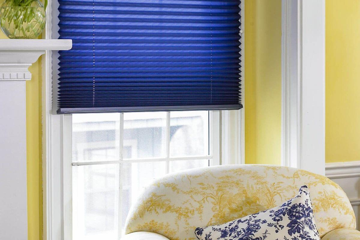 Solid Fabric Pleated Shades Custom Made Shades Blinds
