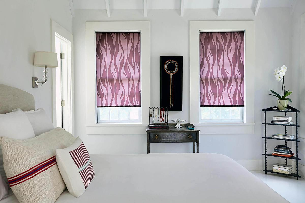 Motif Roller Shades featured in this modern bedroom.