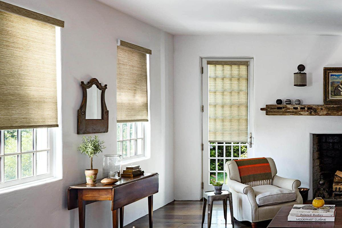 These beautiful Naturally Inspired Roller Shade bring in the warmth of nature inside this home.