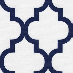 Renaissance French Blue Motif Roller Shade Swatch