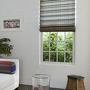 Our soft roman shades are custom made using fabrics from the top designers and fabric houses from around the world