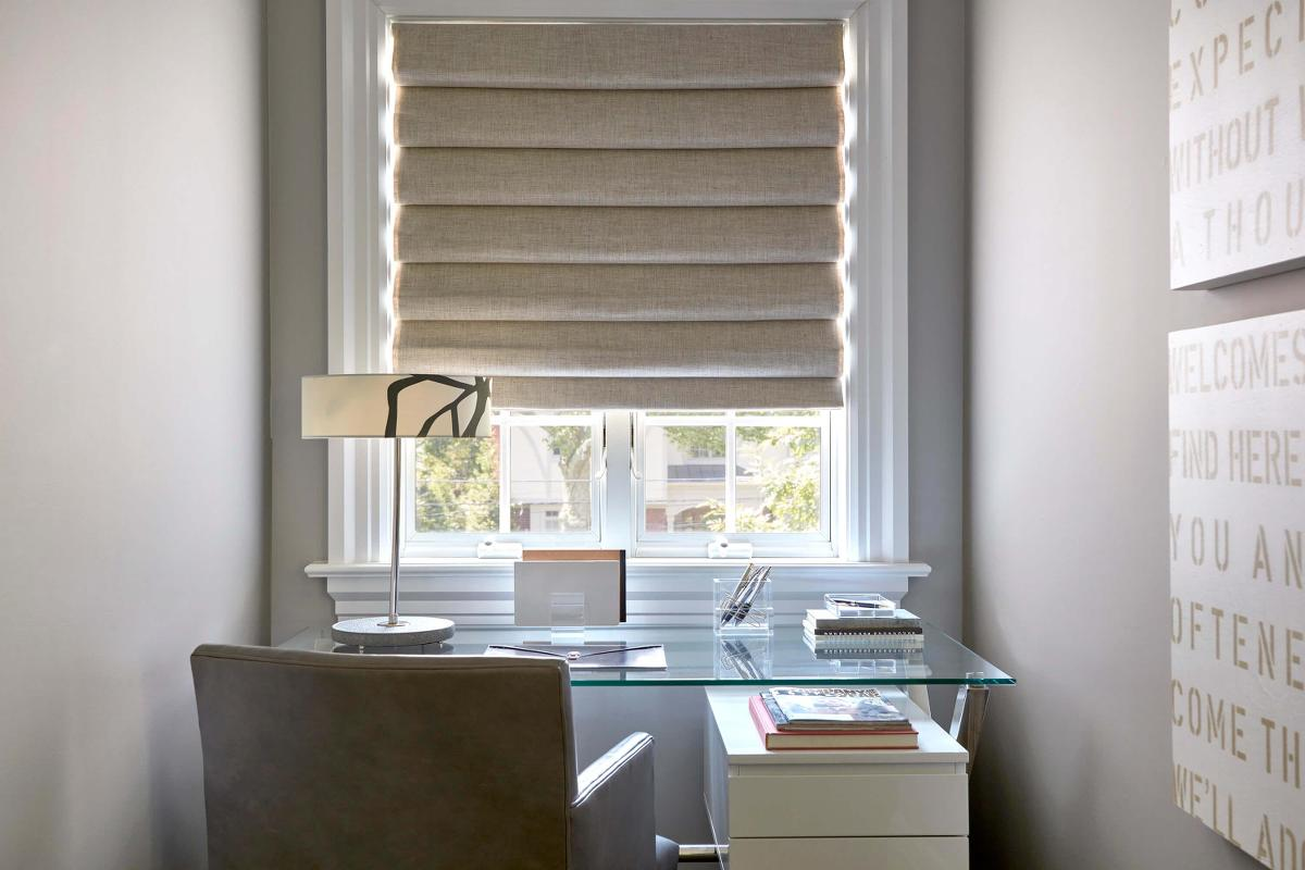 Solid fabric roman shades come in a variety of beautifully styled fabrics, which will bring an air of elegance into any room