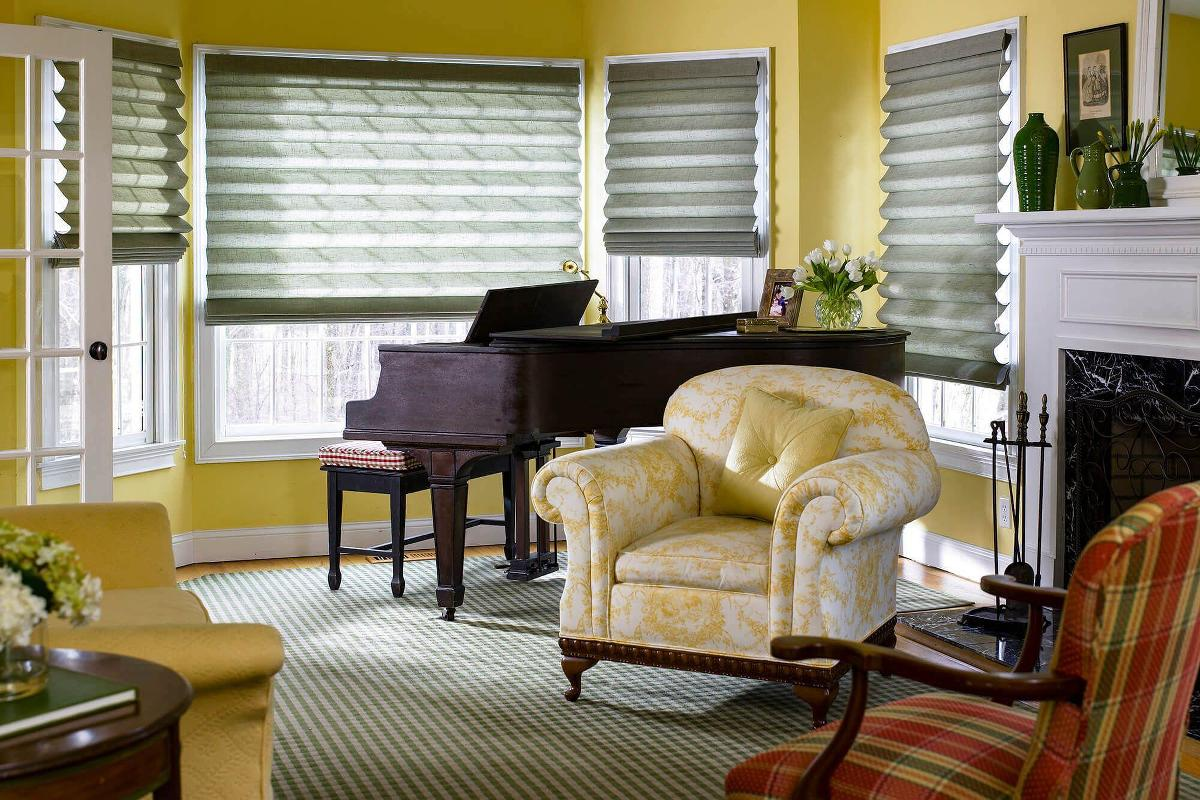 Linen fabric roman shades come in a variety of beautifully styled fabrics, which will bring an air of elegance into any room
