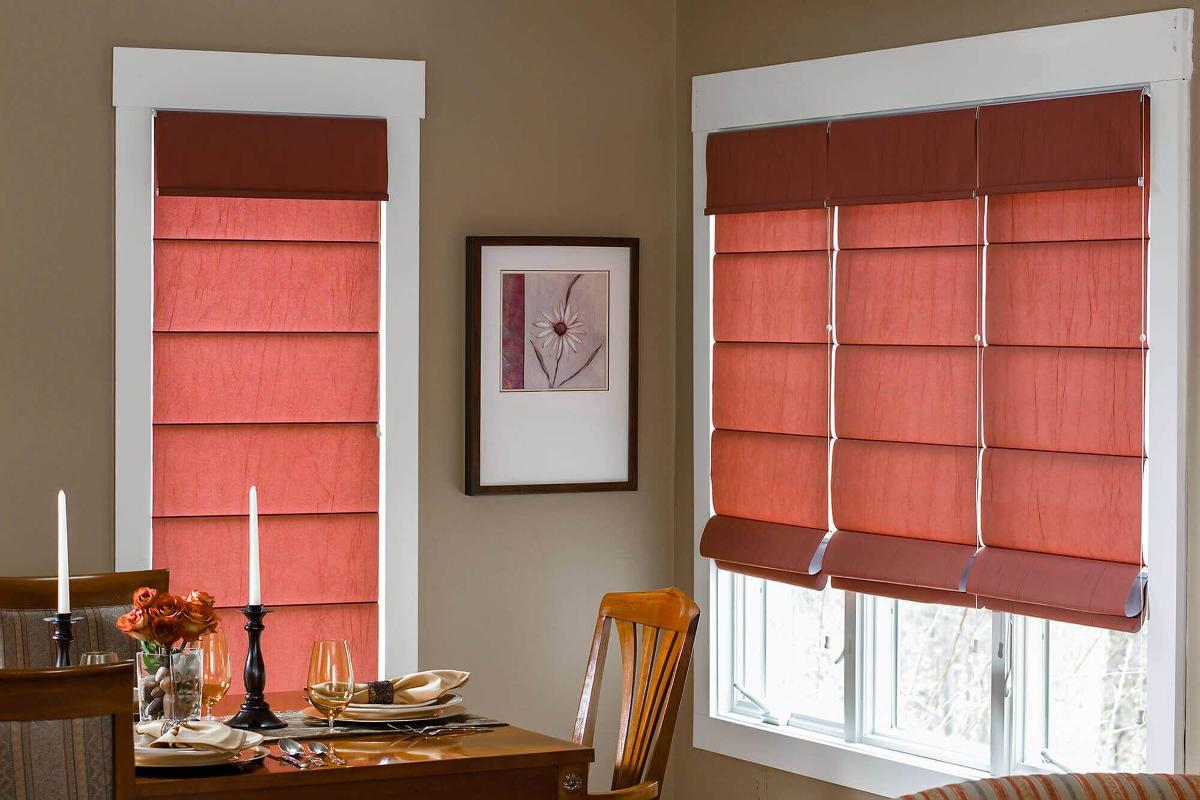 Roman Shades Custom made fabric shades Blinds To Go