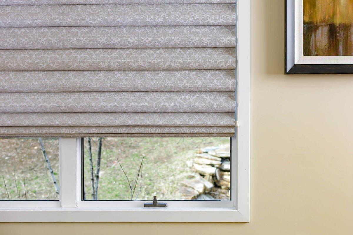 Showcasing versailles custom roman shades