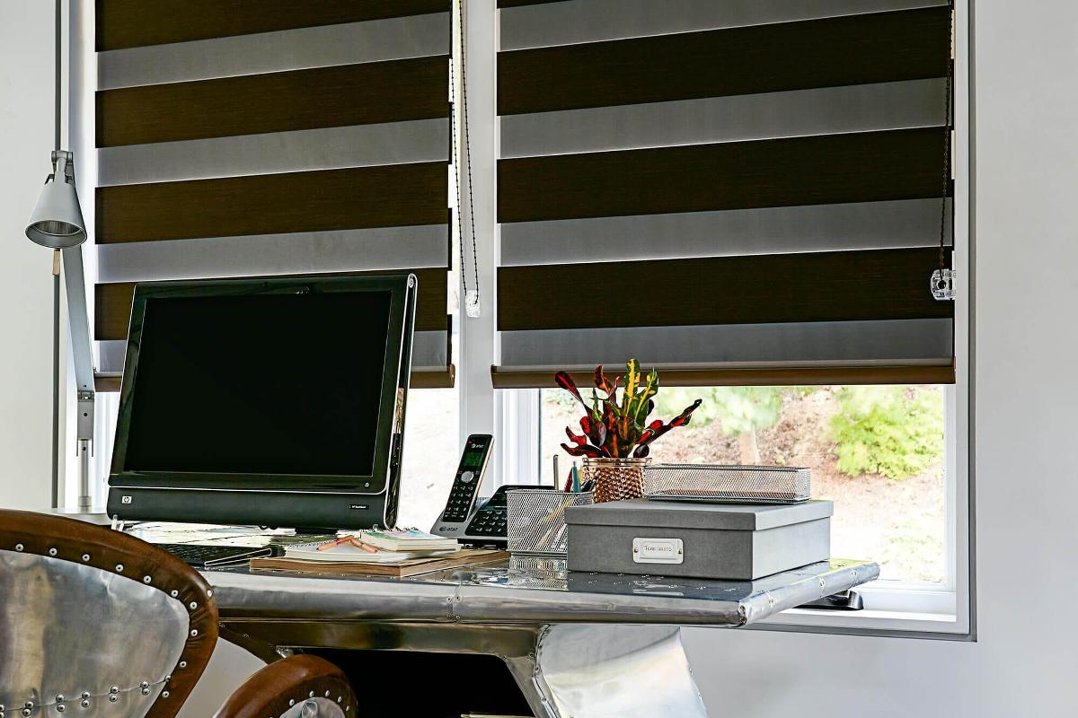 Cascade room darkening shades are perfect for offices where you can block out unwanted sun light.
