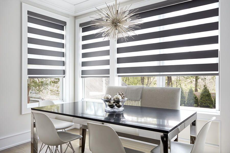Cascade Shades in Dining Room