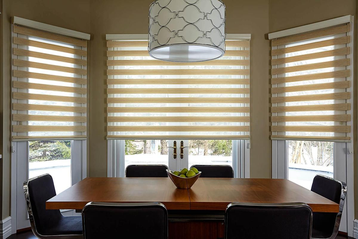 Charming The Elegant Looking Cascade Shades Are The First Thing You Notice In This Dining  Room