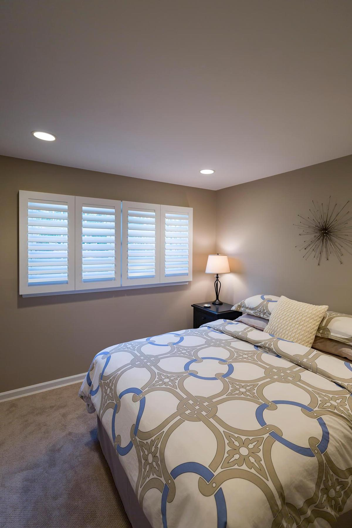 Morview Shutters in a bedroom.