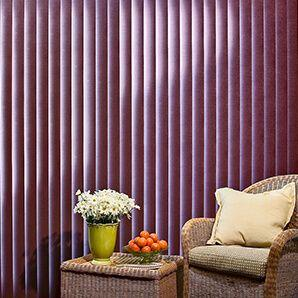 Our fabric vertical blinds comes in a large selection of styles, colors, and textures.