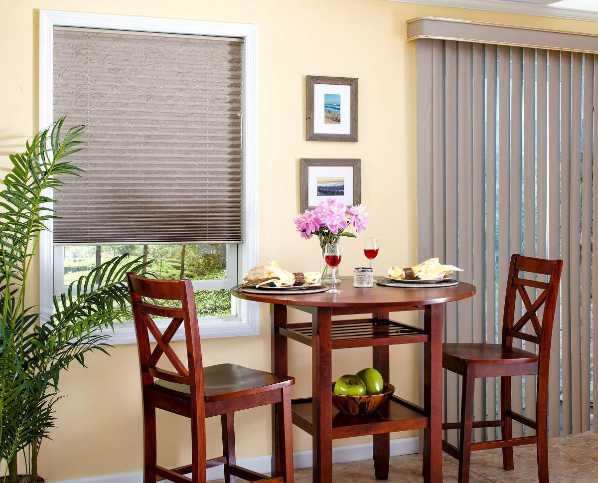Dining VinylVertical Inspiration1 Vinyl Vertical Blinds