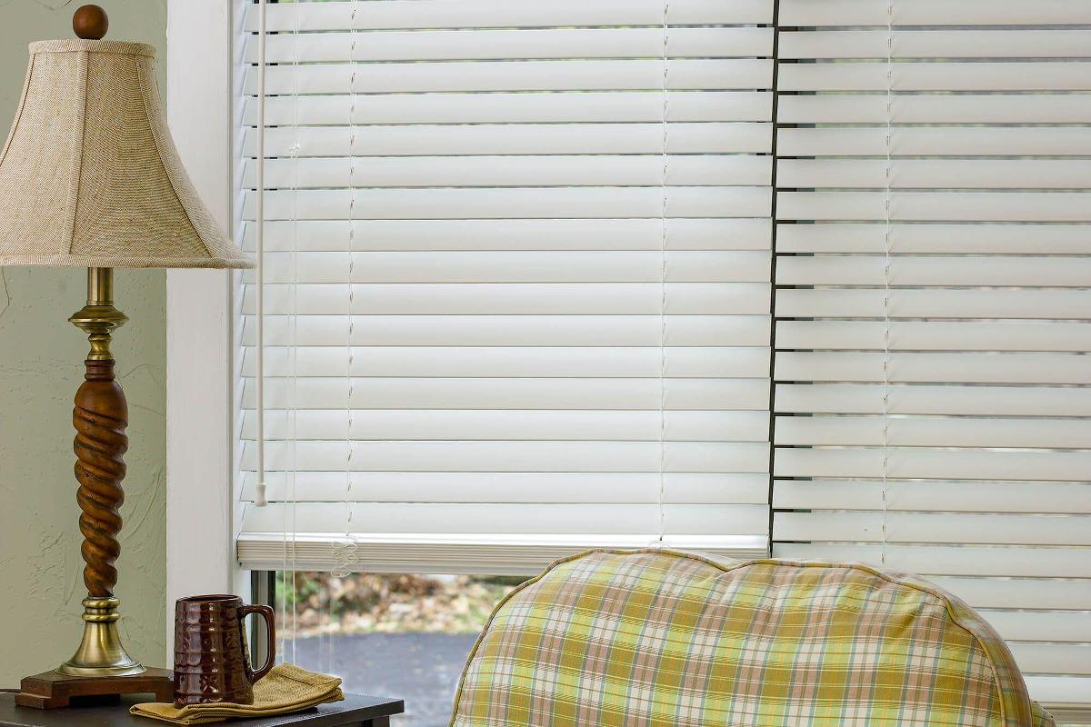 2 Faux Wood Blinds 34 X 64 Window Horizontal Blinds