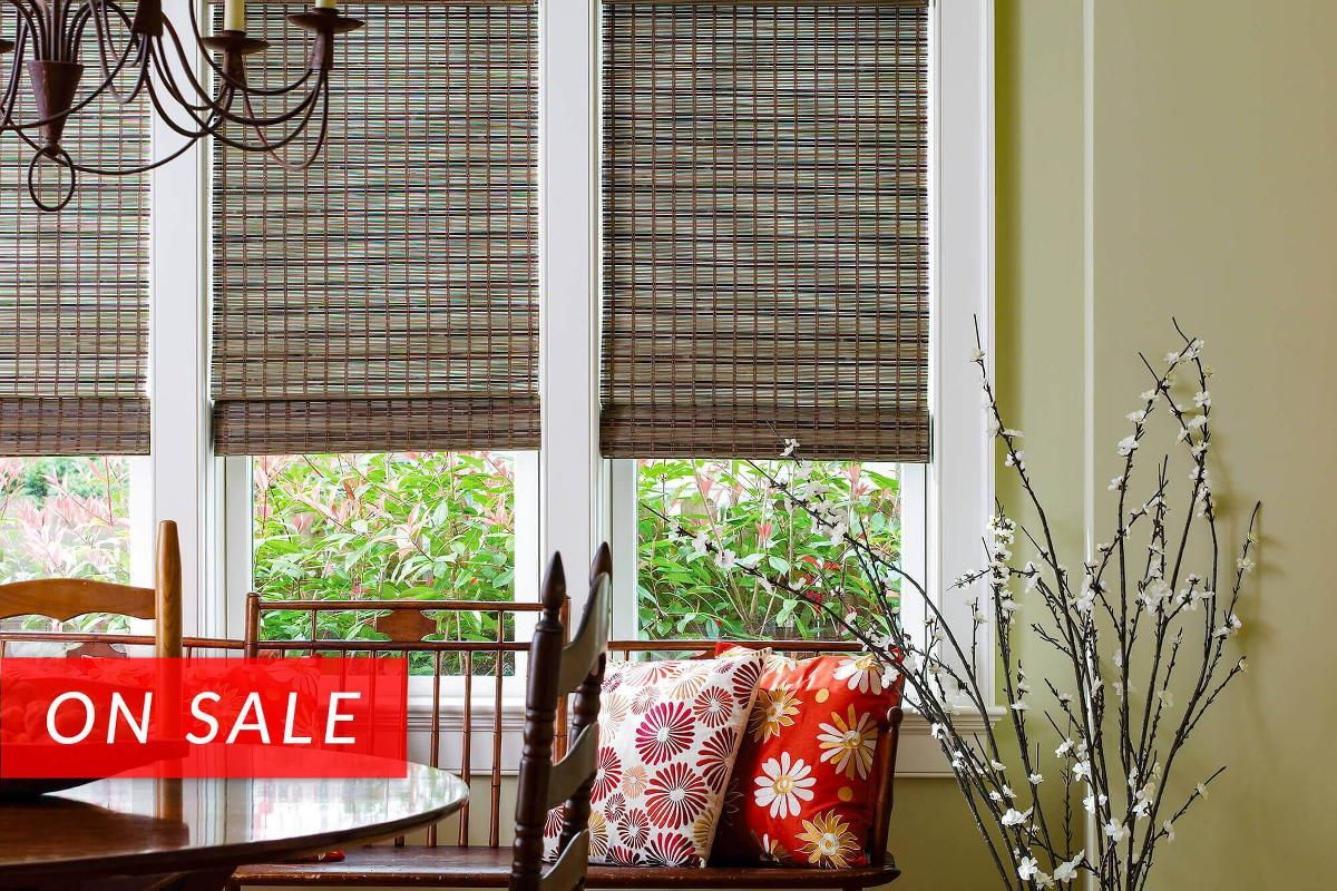 Woven wood shades custom made shades blinds to go for Elegant window